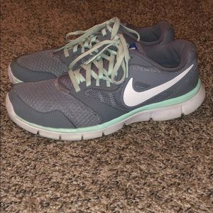 Grey and Mint Green Nike Sneakers